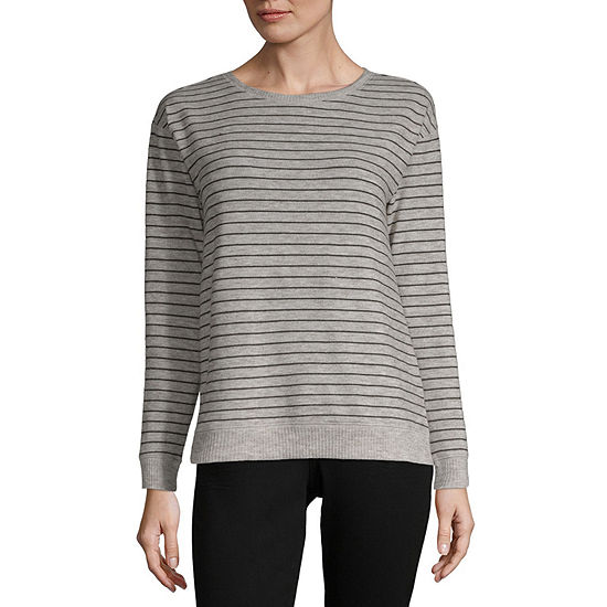 Liz Claiborne Weekend Womens Crew Neck Long Sleeve Sweatshirt