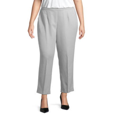 Alfred Dunner Lake Geneva Womens Straight Pull-On Pants -Plus Short