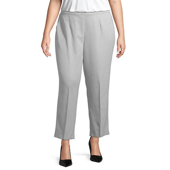 Alfred Dunner Lake Geneva Womens Straight Pull-On Pants -Plus Short