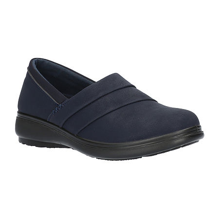 Easy Street Womens Maybell Slip-On Shoe, 7 Narrow, Blue