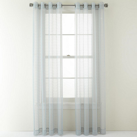 Studio Sheer Grommet-Top Single Curtain Panel
