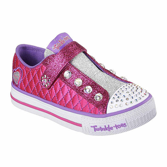 Skechers® Twinkle Toes Shuffles Sparkly Jewels Girls Sneakers - Little/Big Kids