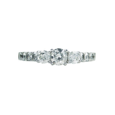 LIMITED QUANTITIES! Womens 1 1/2 CT. T.W. Round White Diamond 14K Gold Engagement Ring