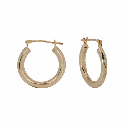 10K Gold 18mm Hoop Earrings