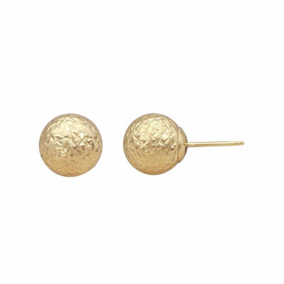 14K Gold 9mm Ball Stud Earrings