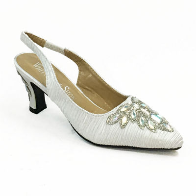 Whittall & Shon Womens Jewel Leaf Pumps Soft Toe