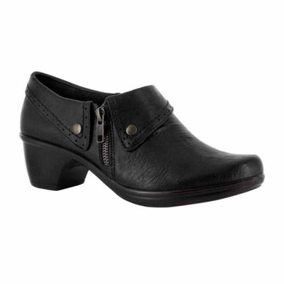Easy Street Womens Darcy Shooties Zip Round Toe