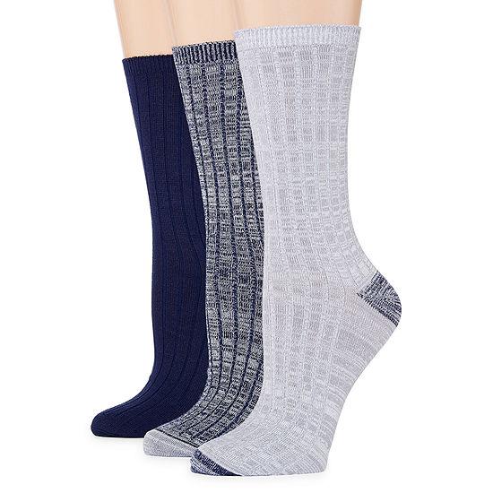 Mixit 3 Pair Ultra Soft  Crew Socks - Womens