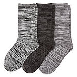 Mixit 3 Pair Ultra Soft  Crew Socks - Womens