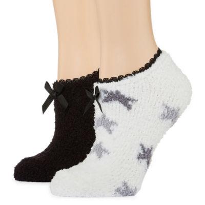 Mixit 2 Pair Slipper Socks - Womens