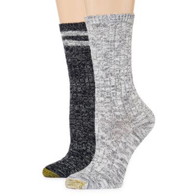 Gold Toe® 2-pr. Slub Boot Crew Socks