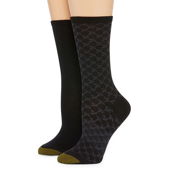 Gold Toe 2 Pair Crew Socks Womens
