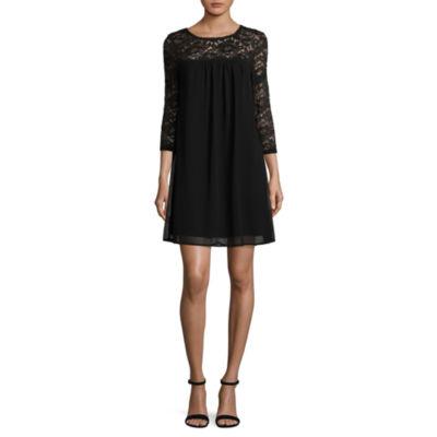 Luxology 3/4 Sleeve Babydoll Dress