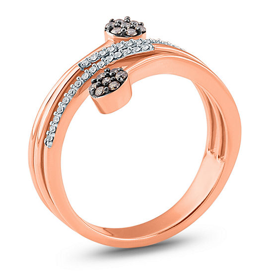 Womens 1/5 CT. T.W. Genuine Champagne Diamond 10K Gold Cocktail Ring
