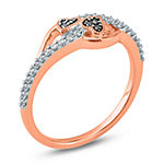 Womens 1/5 CT. T.W. Genuine Champagne Diamond 10K Gold Heart Cocktail Ring