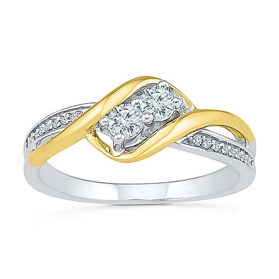 2MM 1/4 CT. T.W. Genuine White Diamond 10K Gold Band