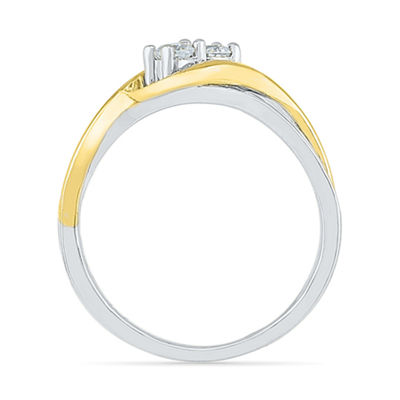Womens 2MM 1/4 CT. T.W. Genuine White Diamond 10K Gold Band