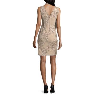 Scarlett Sleeveless Pattern Shift Dress-Tall