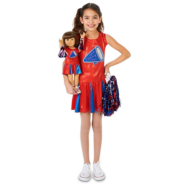 Cheer Team Child Costume with Matching 18 Doll Costume