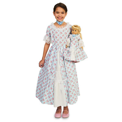Fancy Early American Child Dress with Matching 18Doll Costume