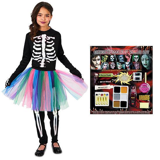 Skeleton Tutu Child Costume Kit