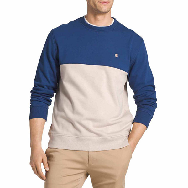 IZOD Crew Neck Long Sleeve Fleece Pullover Sweater