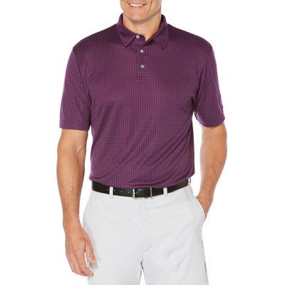 PGA TOUR Short Sleeve Jacquard Mesh Polo Shirt