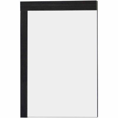 American Imaginations 23.5-in. W X 35.5-in. H Modern Plywood-Melamine Wood Mirror In Dawn Grey
