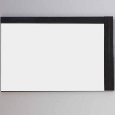 American Imaginations 35.5-in. W X 23.5-in. H Modern Plywood-Melamine Wood Mirror In Dawn Grey