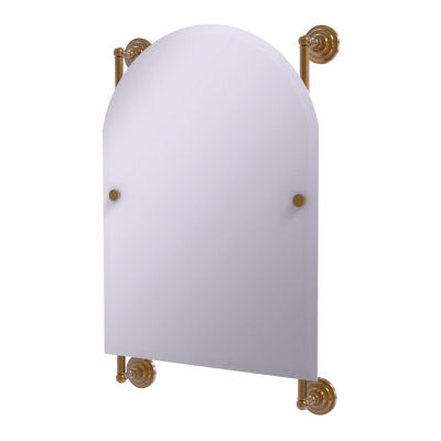 Allied Brass Prestige Que New Collection Arched Top Frameless Rail Mounted Mirror