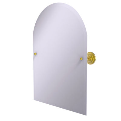 Allied Brass Prestige Que New Collection Beveled Edge Arched Top Tilt Wall Mirror