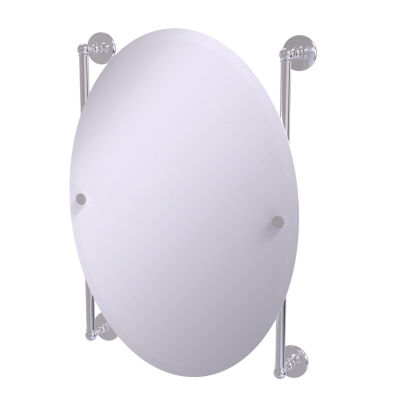 Allied Brass Prestige Skyline Collection Oval Frameless Rail Mounted Mirror