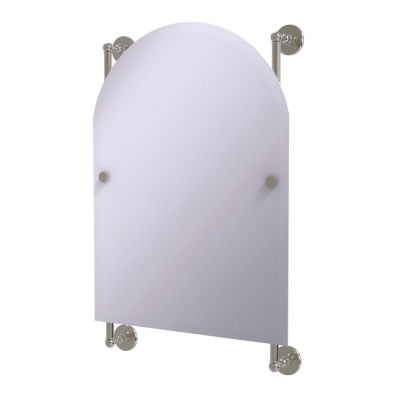 Allied Brass Prestige Skyline Collection Arched Top Frameless Rail Mounted Mirror