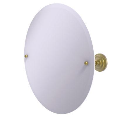 Allied Brass Frameless Round Tilt Mirror with Beveled Edge