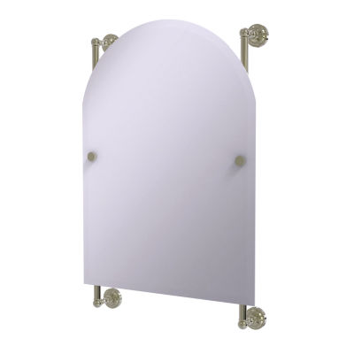 Dottingham Collection Arched Top Frameless Rail Mounted Mirror