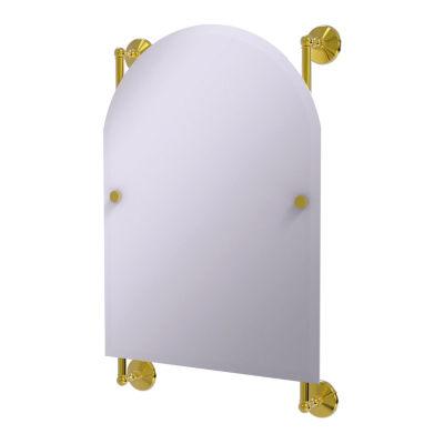 Allied Brass Monte Carlo Arched Top Frameless Rail Mounted Mirror