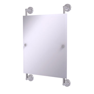 Allied Brass Prestige Regal Collection Rectangular Frameless Rail Mounted Mirror