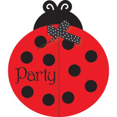 Creative Converting Ladybug Fancy Invitations