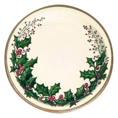 Creative Converting Winter Holly Banquet Plates