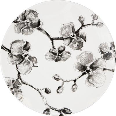 MADHOUSE Black Orchid Melamine Plate
