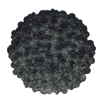 MADHOUSE Black Orchid Melamine Platter