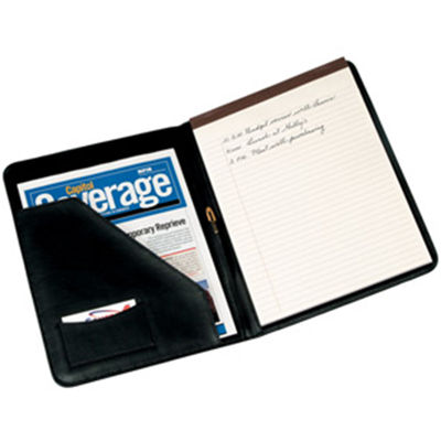 Royce Leather Suede Lined Leather Padfolio