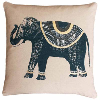 Thro by Marlo Lorenz Ezra Elephant Printed Throw Pillow