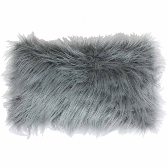 Thro by Marlo Lorenz Keller Faux Mongolian ReverseTo Micromink Throw Pillow