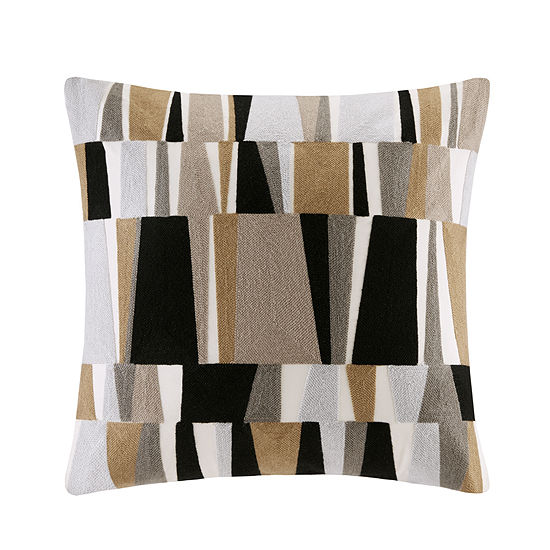 INK + IVY Lars Embroidered Stripe Decorative ThrowPillow