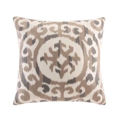 INK + IVY Mead Embroidered Medallion Decorative Throw Pillow