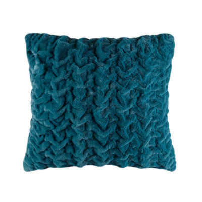 Throw Pillows At Jcpenney : Madison Park Ruched Fur Euro Throw Pillow - JCPenney