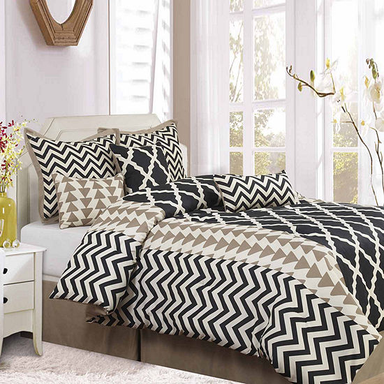 Options Josh 7 Pc Reversible Comforter Set