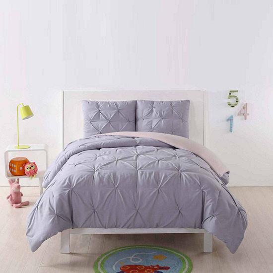 My World Pleated Reversible Comforter Set