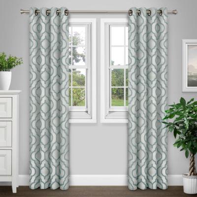 Journee Home Wylie Textured Grommet Curtain Panel Pair